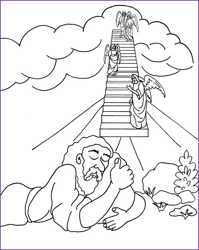 Haven clipart jacob's ladder Ladder about Jacob's Coloring 238
