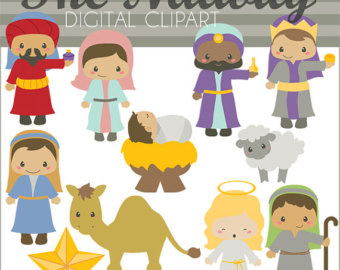 Figurine clipart nativity Use clipart Etsy Christmas Commercial