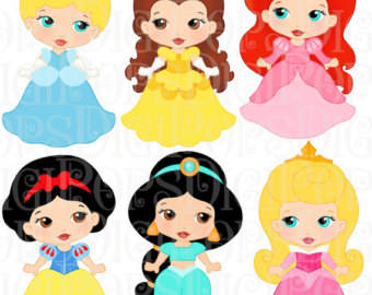 Baby clipart sleeping beauty Set Set Cinderella and Nativity