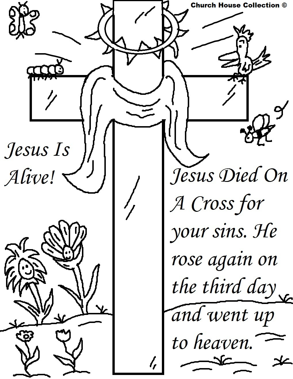 Deadth clipart religious Pages Easter Coloring Printables Is