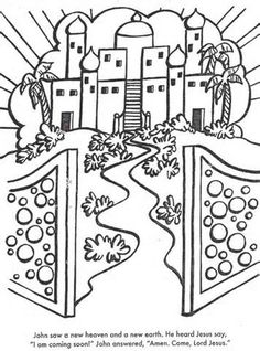 Haven clipart new earth And Free coloring Heaven Green