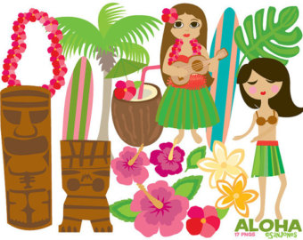 Haven clipart paradise Luau Tropical clipart Etsy Paradise