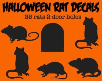Rat clipart halloween #1