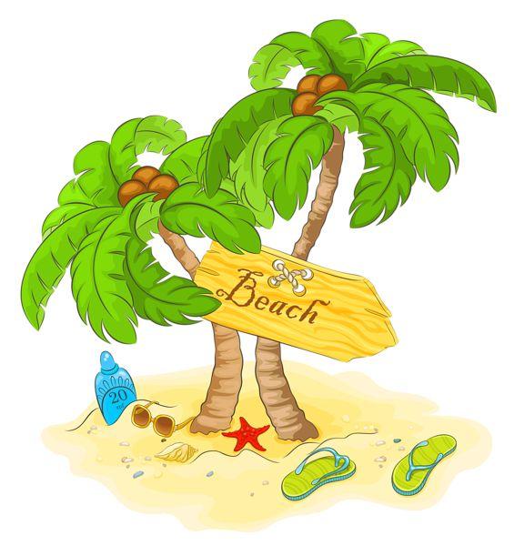 Seashore clipart summer scenery #10