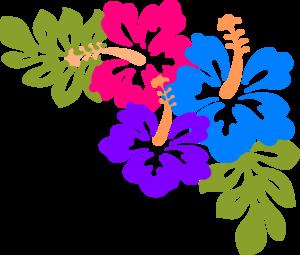 Red Flower clipart hawaiian #5