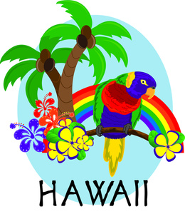 Parrot clipart hawaiian palm tree Clipart Pictures Clip hawaii Free