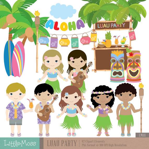 Hawaii clipart tiki god Digital Studio clipart Beach Luau