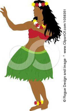 Hawaii clipart hula dancer Pams A Female Free a