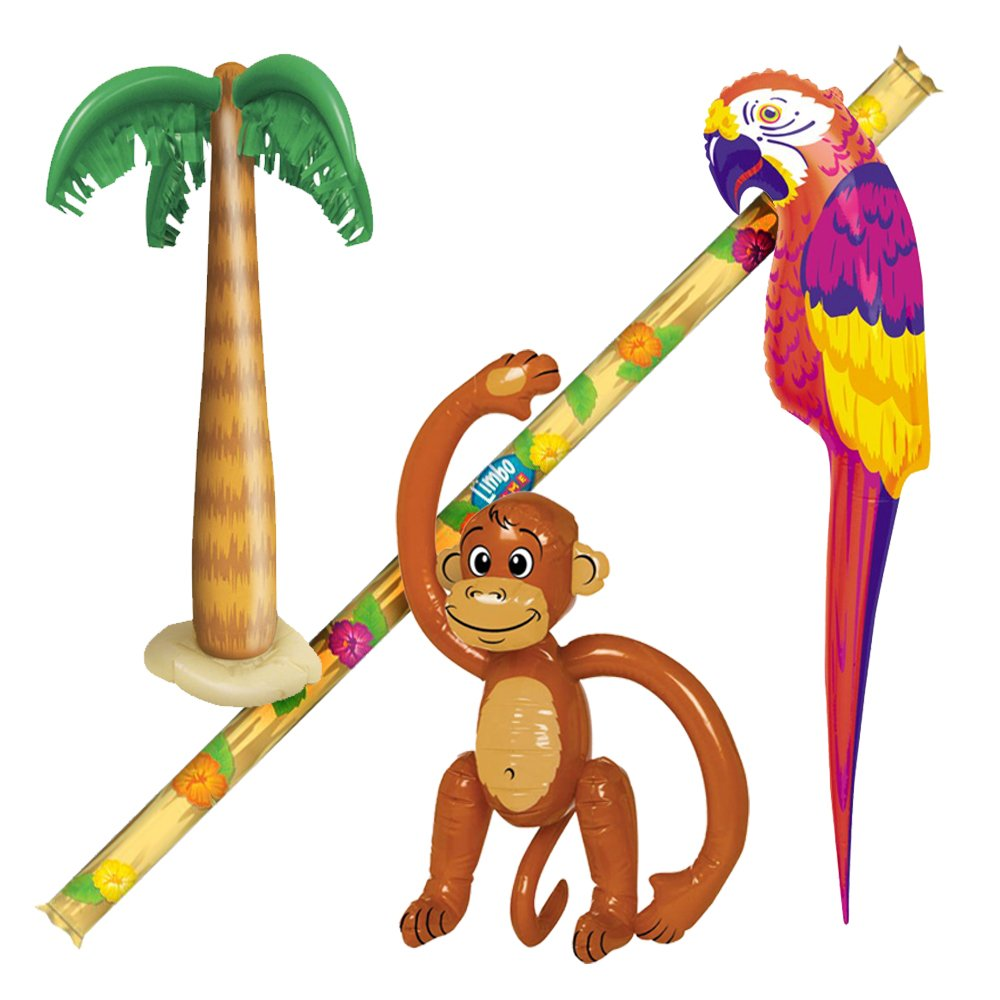 Parrot clipart hawaiian palm tree Beach Party Monkey Inflatables 4