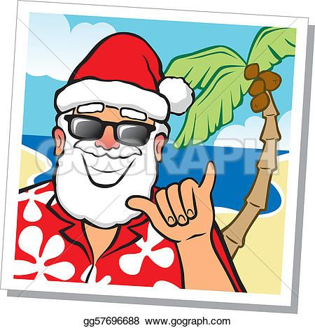 Hawaii clipart hawaii state flower Claus Clipart Santa Art
