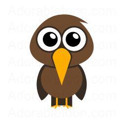 Brown Hawk Owl clipart cute cartoon Best Pinterest images Animals com