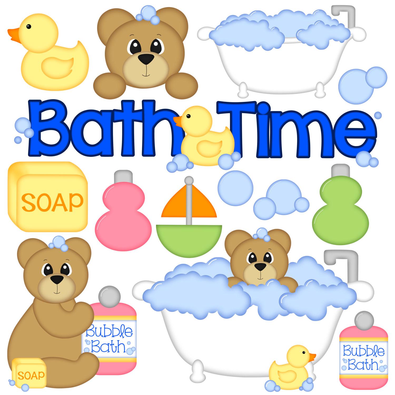 Baby clipart bathtime  Bath of Set Item#8257