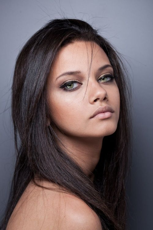 Hazel Eyes clipart dark brown hair #7