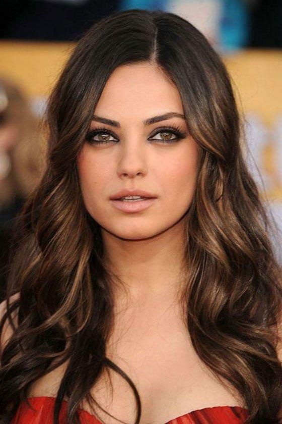 Hazel Eyes clipart dark brown hair #9