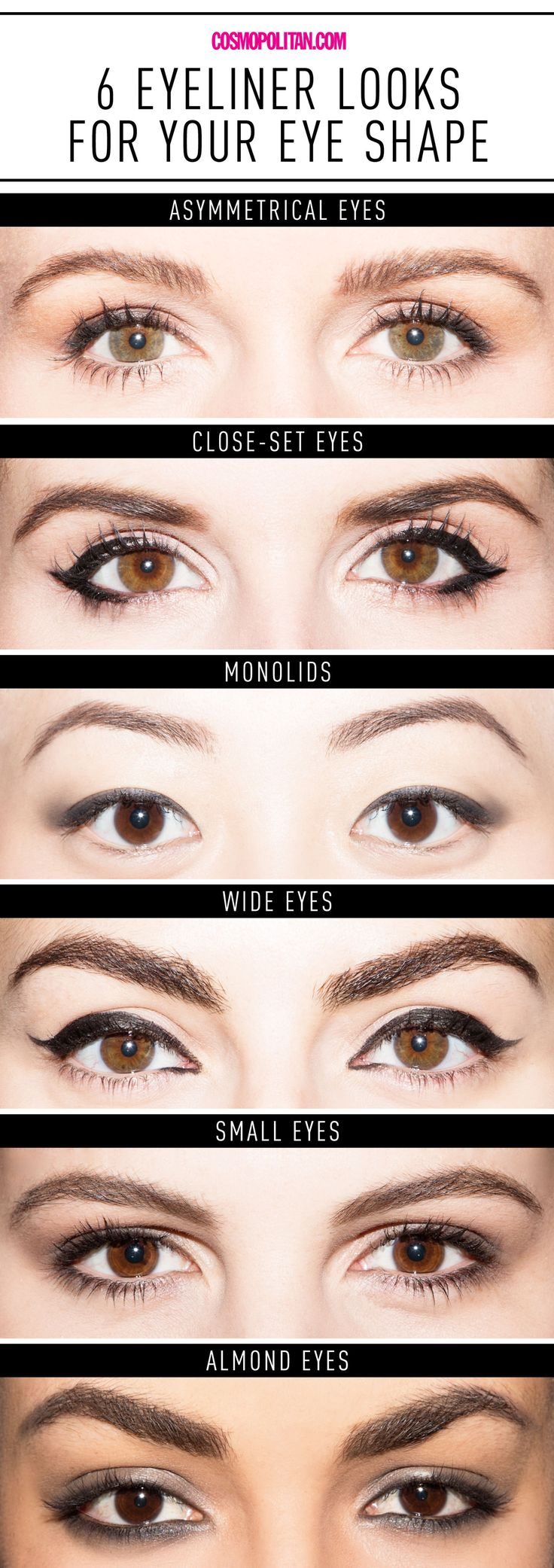 Hazel Eyes clipart eyeliner Ways 6 Eyeliner Chart Eye