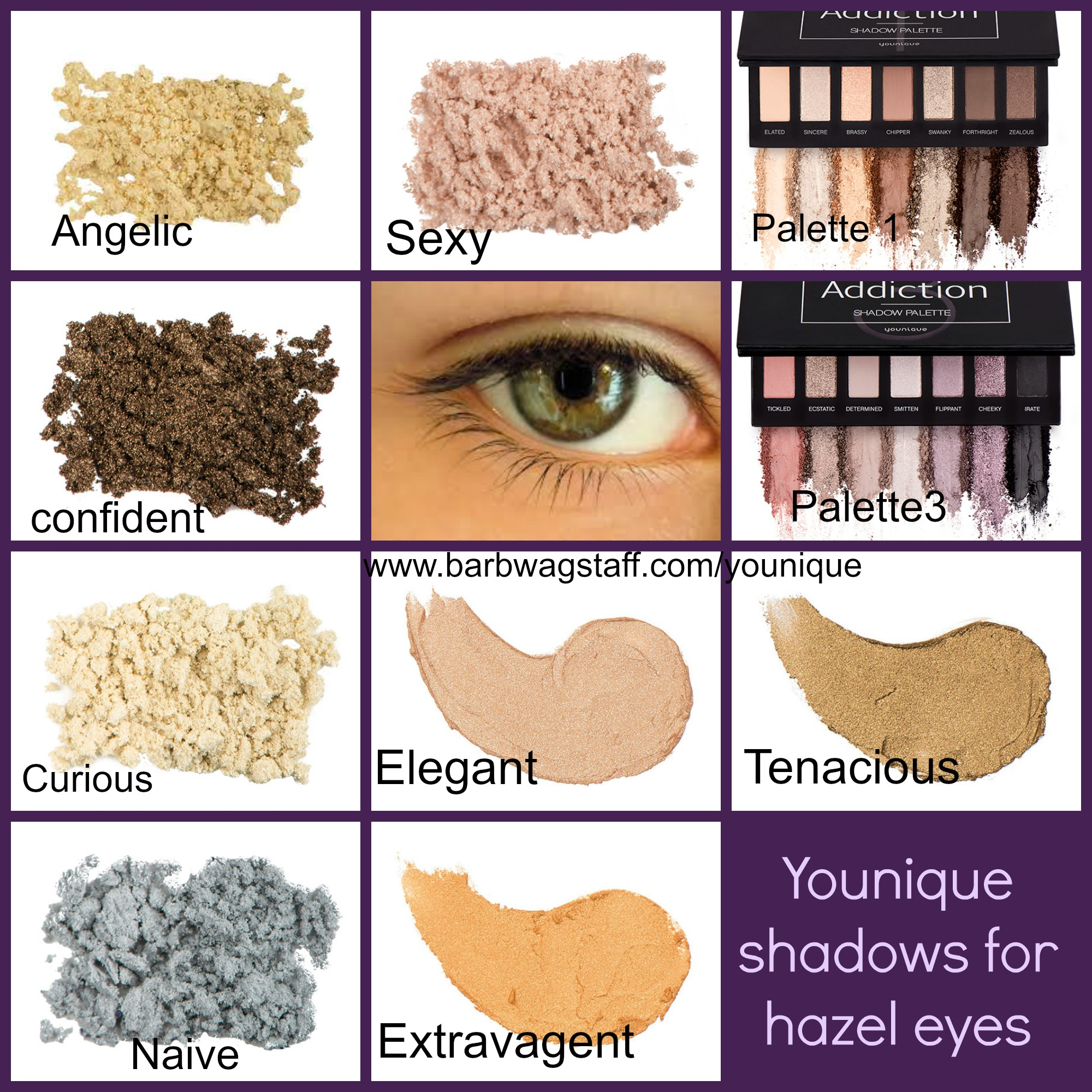 Hazel Eyes clipart green eye Younique eye Splurge Amazing eyes