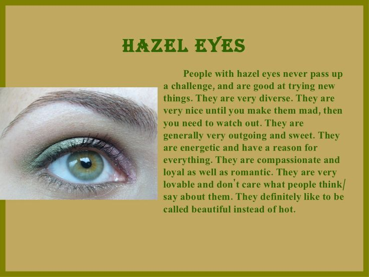 Hazel Eyes clipart green eye What Hazel Best Color Say