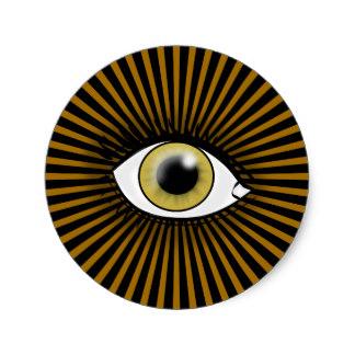 Hazel Eyes clipart round eye Sticker Classic Zazzle Hazel Round