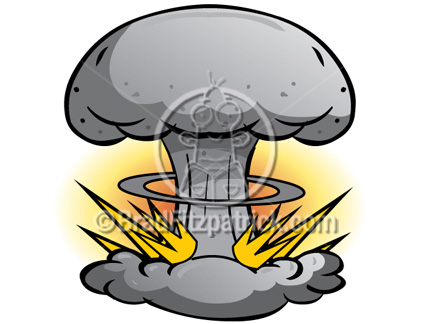 Explosions clipart bom Bomb Atomic Atomic Cartoon Cartoon