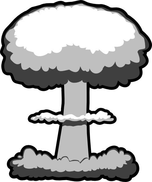 Nuclear Explosion clipart Atomic Black cliparts Clipart And