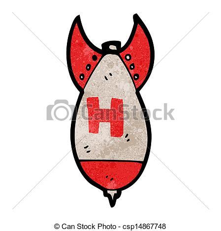 H-bomb clipart Of cartoon H Stock H