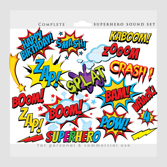 Saying clipart superhero #4