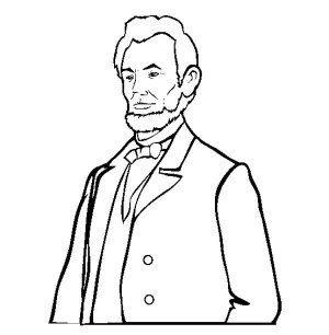 Head clipart abraham lincoln Abraham Abraham Coloring collection color