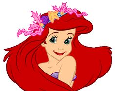 Head clipart ariel Search mermaid and names characters