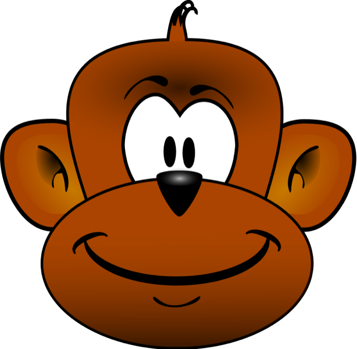 Baboon clipart face Free Face Monkey Clipart Monkey