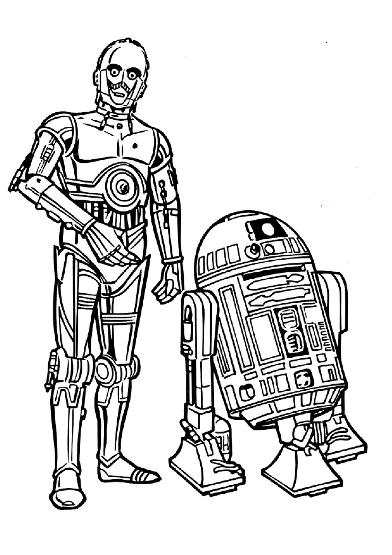 Drawn star wars c3po Recherche coloriage associés c3po de