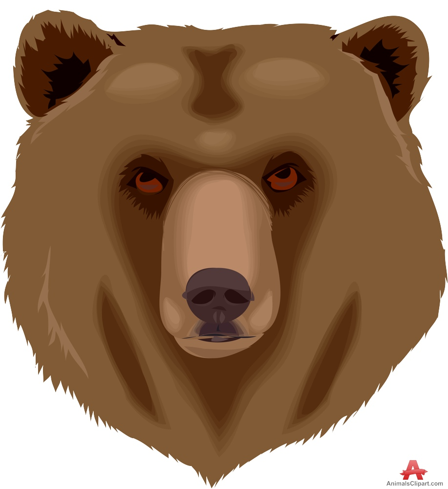 Grizzly Bear clipart brown color Face Grizzly Bear Free Face