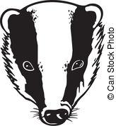 Honey Badger clipart mascot #1