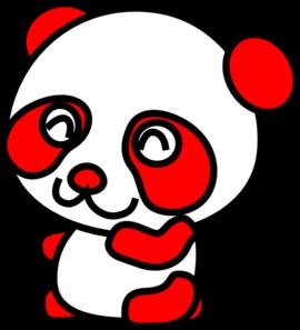 Red Panda clipart panda head #1