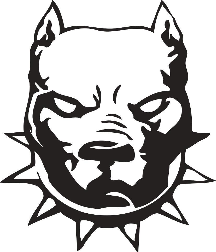Pitbull clipart mean Imagui Logos Design Clip