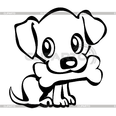 Drawn puppy clip art Images Dog Panda cute%20dog%20with%20bone%20clip%20art Art