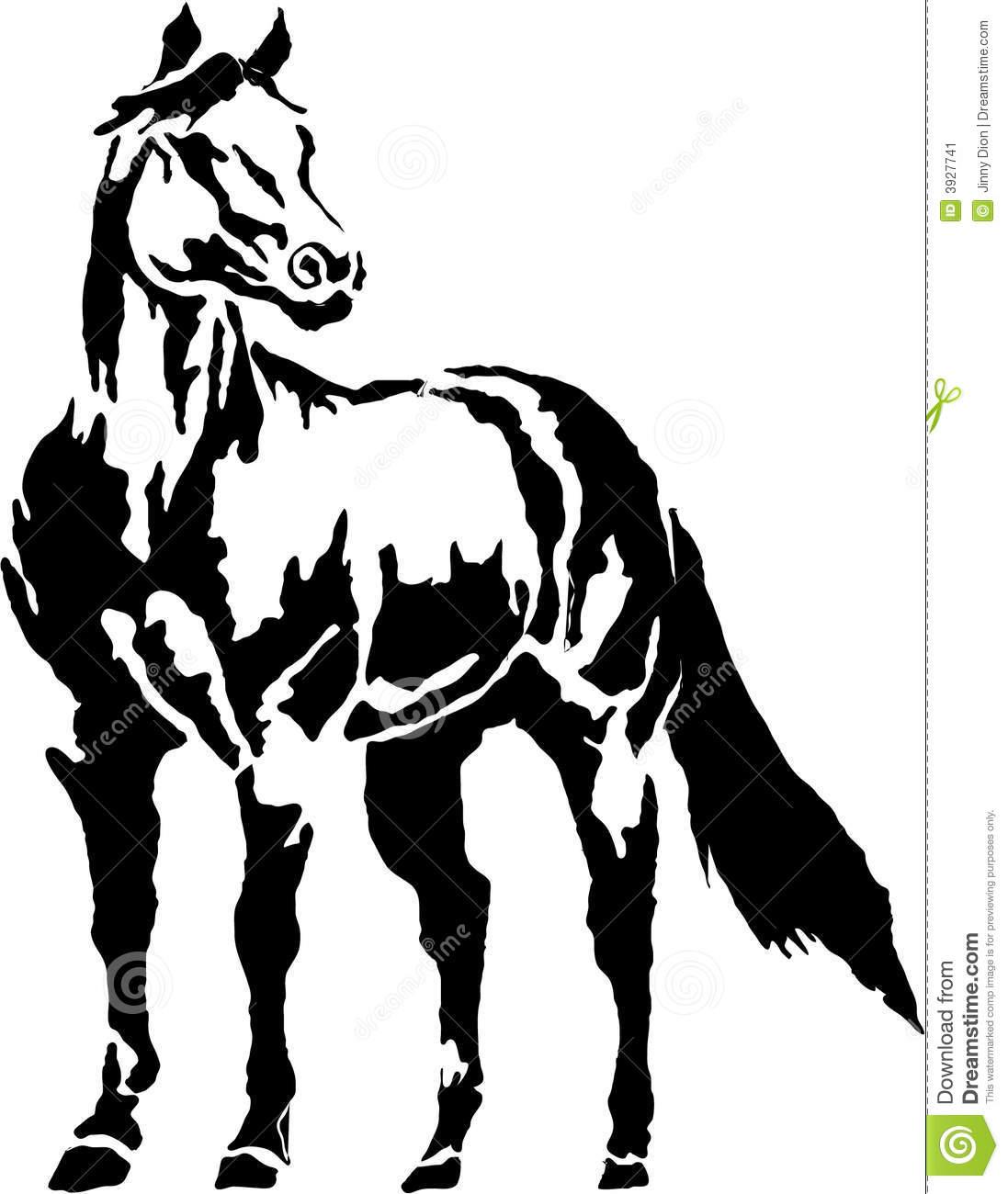 Head clipart quarter horse Horse Outline Quarter Horse Outline