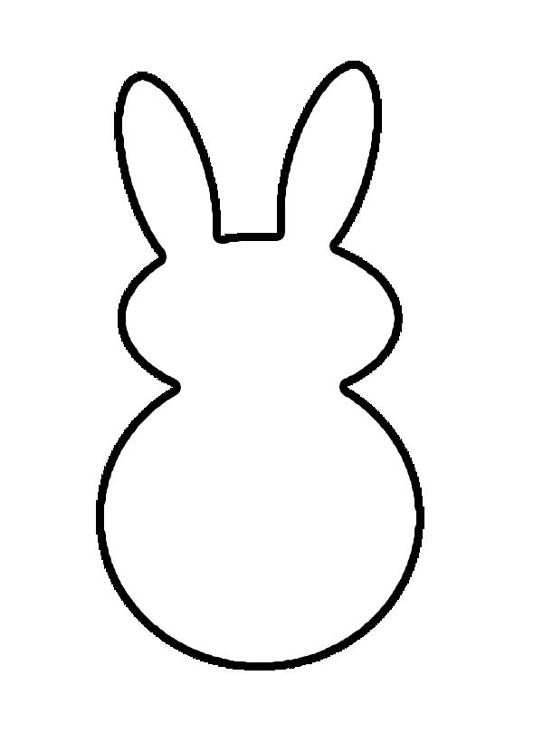 Simple clipart bunny #4