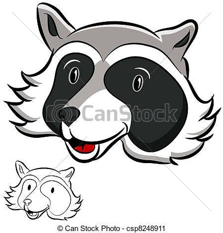Raccoon clipart face Of And Black u11899772 Clipart