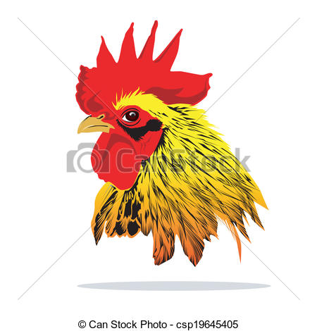 Rooster clipart rooster head #6