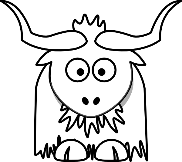 Yak clipart urial At Outline online Download