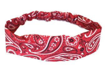 Headband clipart athlete Red Womens Bandana Hair Headband