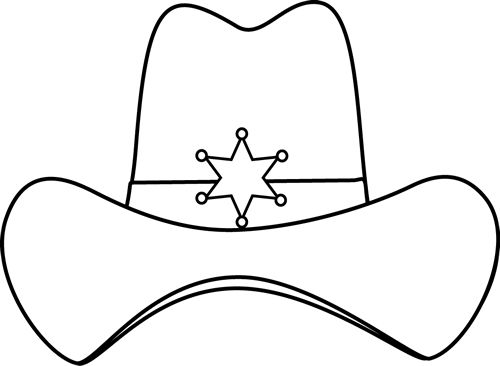 Headband clipart black and white Hat sheriff Cowboy Clip Image
