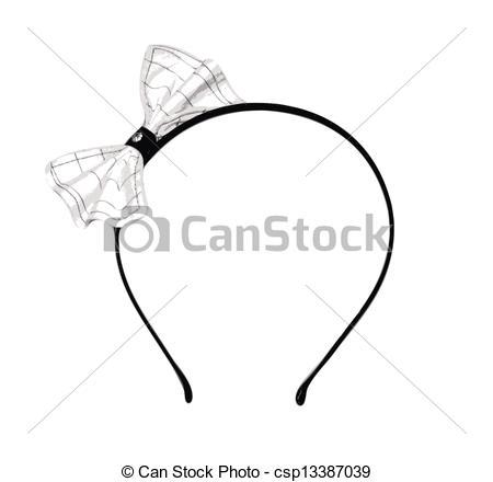 Headband clipart bow A Striped Bow a Headband