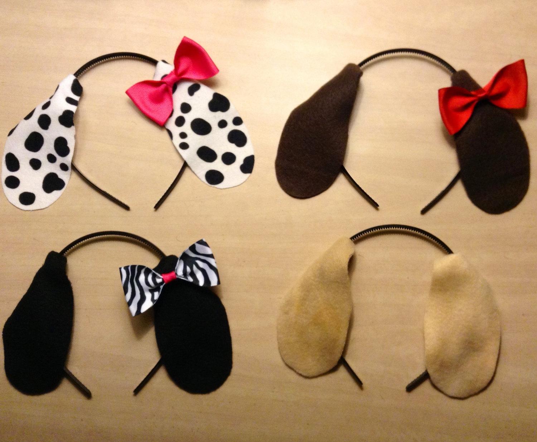 Headband clipart dog ear Puppy headband  bow ears