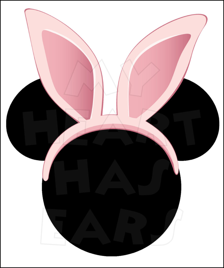 Headband clipart easter bunny ear Easter INSTANT with Pink
