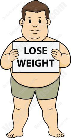 Headband clipart exercise man Cartoon Overweight Jogging Weight Holding