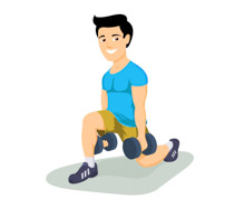 Headband clipart exercise man And Man  Fitness dumbbells