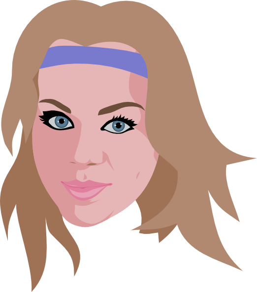 Headband clipart face This vector Wearing Girl as: