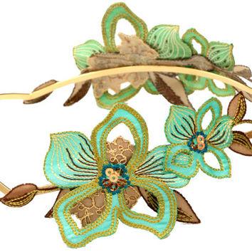 Headband clipart greek Best Green on green flower