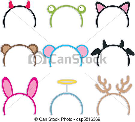 Headband clipart hairband EPS Headbands Collection Costume Collection